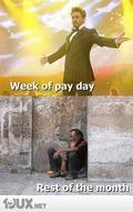 Zahltag - Rest des Monats